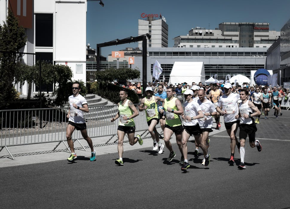 En springande grupp